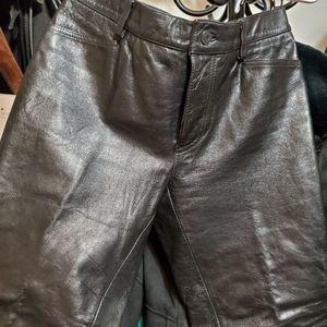 Gap leather 5 pocket Jean's size 4